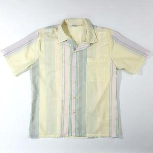 Vintage Royale Air Men's Button-Front Shirt Size:L